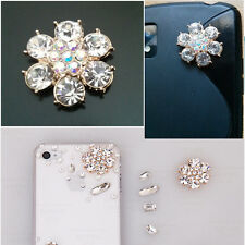2pcs Gold alloy rhinestone flower cabochons-diy phone decor (C0105)