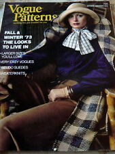 VTG 1970s VOGUE PATTERN MAGAZINE CATALOG BOOK 1973