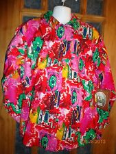 NEW! Mine & Bill's Outfitters Pink Multicolor Cowboy Shirt Size Large