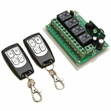 200M DC 12V 4CH Channel Wireless Remote Control Switch 2 Transmitter + Receiver