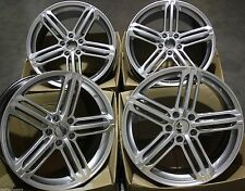 "19"" ALLOY WHEELS FITS VW AUDI A3 S3 03  A4 S4 95  A6 S6 TT 06  Q3 Q5 RS 6B SIL C"