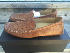 NIB Cole Haan Exotics Genuine Ostrich Loafers C05354 Shoes 9M RARE Brown
