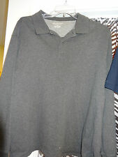 St John's Bay Long Sleeve Button Neck Gray Shirt Size XL X-Large