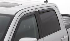 For: RAM 1500 CREW CAB; 194109 Window Vent Shade Visors IN CHANNEL 2009-2017