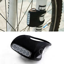 Cycling Bike Bicycle 7 LED Black Silicone Frog Lamp Front Lights or Rear Warning