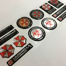 Umbrella Corporation Resident Evil Chrome 3d domed decal stickers chrome 13pcs