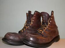 1990's Brown Leather Raised Seam Safety Red Wing Work Boots Men's Size 9 1/2 3E