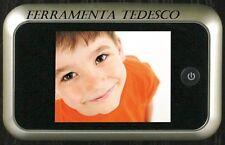 SPIONCINO DIGITALE PER PORTE D'INGRESSO DORATO CON TELECAMERA E LCD INTERNO CASA