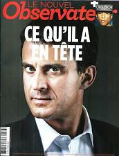 LE NOUVEL OBSERVATEUR N°2578 3 AVRIL 2014  M. VALLS/ P.WILLIAMS/ KUNDERA/ RWANDA