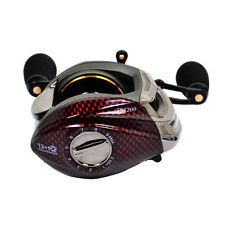 Trulinoya 14BB 6.3:1 Left Hand Handle Bait Casting Fishing Reel Red TS1200