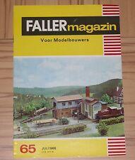 für Faller AMS ---  Faller Magazin 65, Juli 1968, Sprache Niederländisch !