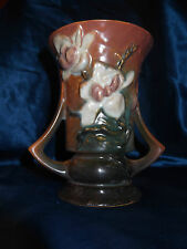 Roseville ~ 88-6 ~ Brown Magnolia Vase Double Handled 6 inch ~ Made in USA