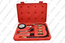 9 Pc Compression Tester Automobile With Accurate Gauge Top End Tester Piston Rin