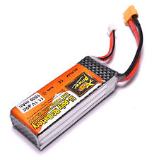 1500mah Lipo Battery 11.1V 40C XT60 Plug For RC Helicopter