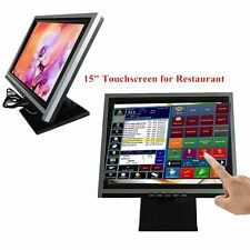 "15"" BRAND NEW Touchscreen USB TFT LCD VGA 4-Wire Touch Screen Monitor POS"