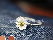 925 Sterling Silver - Chrysanthemum Flower Daisy Lady Open Party Ring Jewelry
