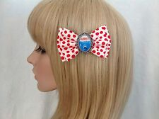 Jaws hair bow clip rockabilly pin up girl retro vintage scary movie blood red