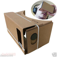 DIY Cardboard Quality VR Virtual Reality 3D Glasses For iPhone Google Smartphone