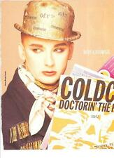 BOY GEORGE (Culture Club) champagne hat magazine PHOTO/Poster/clipping 11x8 inch