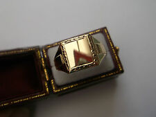 Vintage Men's Signet Ring 9ct Gold Size S 1/2 Stamped W3.1g Hallmarked