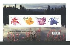 CANADA SOUVENIR SHEET SS 2194 FLOWER DEFINITIVES