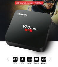 SMART TV Box V88 2G+8GB Android 5.1 4K  Quad Core WIFI 3D H.265 Media Player