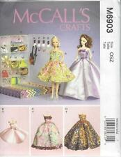 McCall's pattern cucito artigianato 11 1/2 pollice FASHION DOLL CLOTHES & BOX m6903
