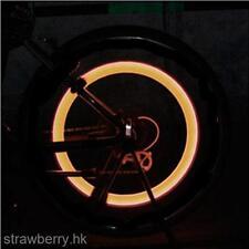 2 Pcs Orange Color MTB Bike Bicycle Car Tire Tyre Valve Cap LED Flashing Light
