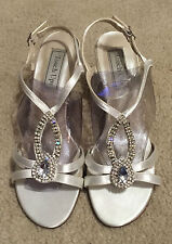 Women's Touchups Mindy White Dyeable Crystal Wedding Bridal Shoes Heels  7M  $71