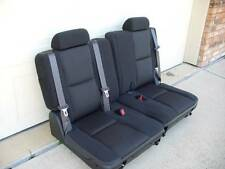 07 08 09 10 11 12 13 14 Tahoe Suburban Yukon 3rd Row Seats Black Cloth Chevy GMC