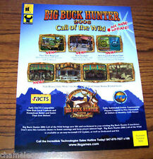 BIG BUCK HUNTER 2006 CALL OF THE WILD ORIGINAL NOS VIDEO ARCADE GAME SALES FLYER