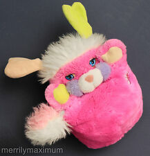 Prize Popples Stuffed Plush Toy Mattel 1980s Very Clean & Bright Pink Turquoise