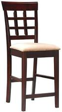 "Wheat Back Cappuccino 24"" High Counter Stool Chair by Coaster 100209  - Set of 2"