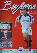 Programm 2000/01 Bayer 04 Leverkusen - Unterhaching