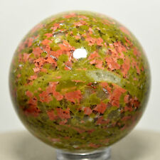 40mm Unakite Sphere Green Pink Crystal Epidote w/ Orthoclase Mineral Stone Ball