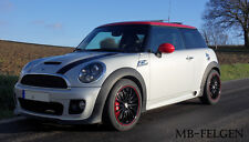 Rimstock Jet blackred 17 Zoll Winterräder + Continental Mini  Cooper Works JCW