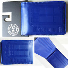 New Hot BBC Doctor Who The telephone booth Logo Blue 12cm wallets Purse Leather