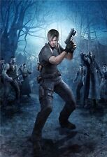 "Resident Evil - 1 2 3 4 5 6 Biohazard Zombie Shoot TV Game 36""x24"" Poster 004"