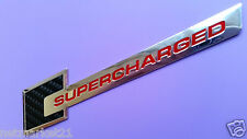 2x CARBON Supercharged Metal Emblem Badge Chrome AUDI Car Sticker A3 A4 S3 A5 A6