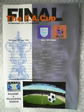 1986 FA Cup FINAL Programme- Arsenal v Newcastle United ( Exc, Genuine*)