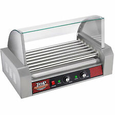 Top Dawg Commercial Seven Roller Hot Dog Machine with Cover