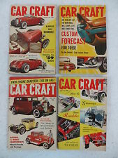 Lot of 4 Vintage CAR CRAFT Magazines 1959 Customizing Repair Hot Rods Stock Cars