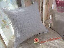 "White Cotton Hand Crochet Lace Pillow Case Cushion Cover~16""~Snowflake~Elegant~"