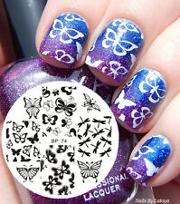 Various Butterfly BORN PRETTY #74 Nail Art Stamp Stamping Template Image Plate
