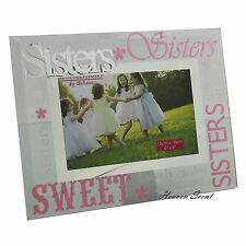 Glass Photo Frame Sisters Birthday Gift Ideas For Her & Sister
