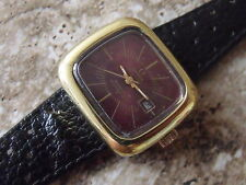 LADIES VINTAGE GOLD PLATED OMEGA DYNAMIC AUTOMATIC WRIST WATCH
