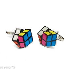High Quality Puzzle Cube Cufflinks
