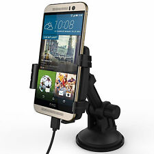 Kidigi Suction Cup Car Mount Holder Cradle Charger Dock for HTC One M9