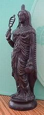 Greek Black Isis Ancient Egyptian Mother Goddess Statue with Sistrum #GIS