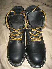 IRON AGE Safety Toe/ OIL RESISTANT  Work Boots / Black / Size 8 EE